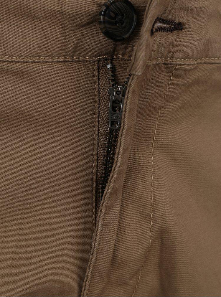 Hnědé chino kalhoty Selected Homme Three Paris