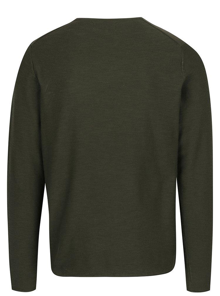 Tmavě zelený lehký svetr ONLY & SONS Paldin