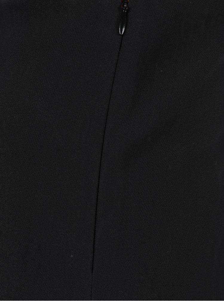 Tmavě modré volné kalhoty VILA Neha