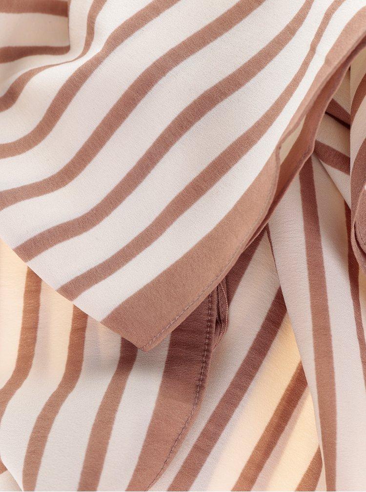 Béžovo-krémový vzorovaný šátek Pieces Nivy