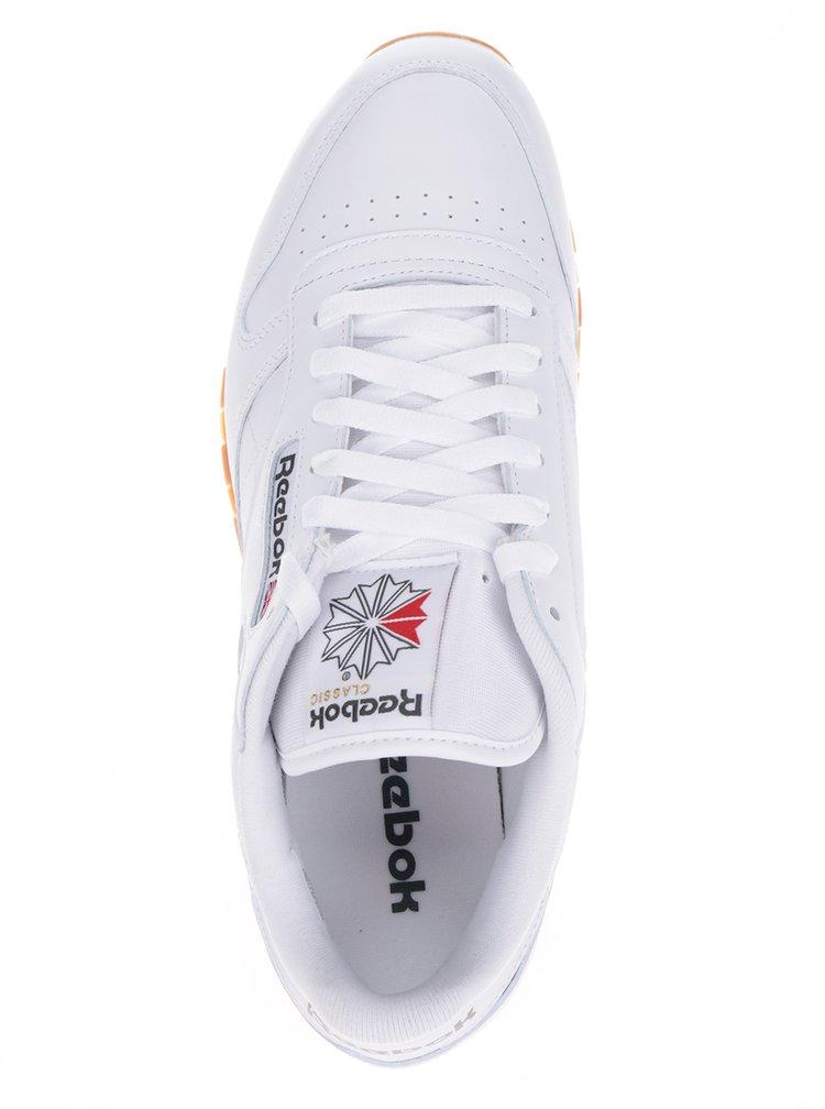 Biele pánske kožené tenisky Reebok GUM