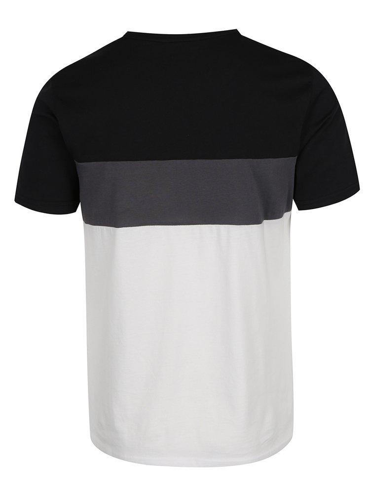 Krémovo-černé triko s šedým pruhem ONLY & SONS Anatolie