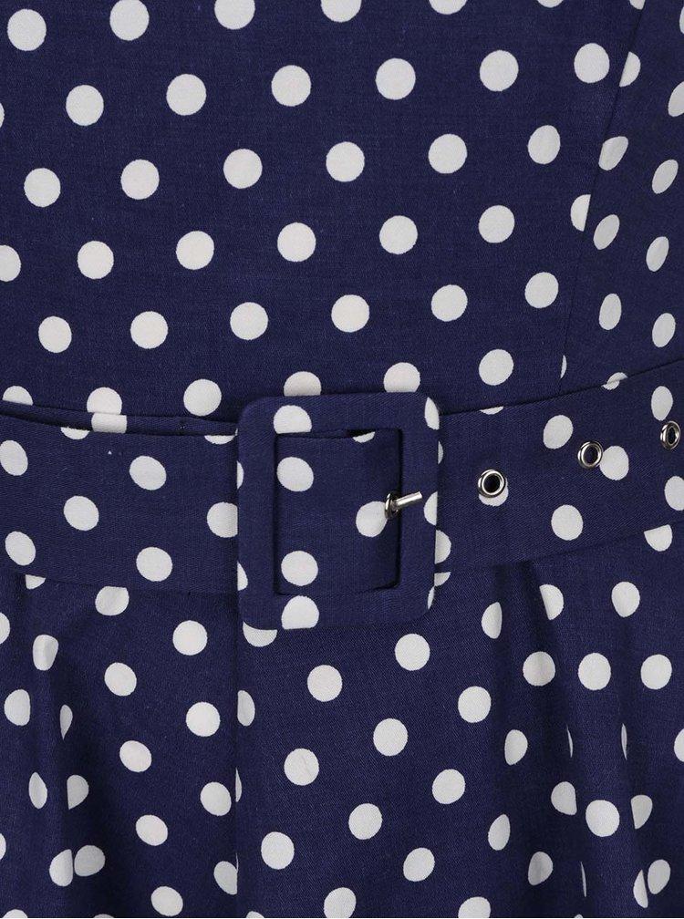 Rochie cloș bleumarin cu buline Dolly & Dotty Penny