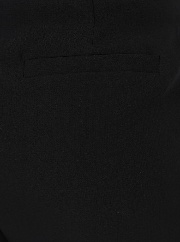 Černé volné kalhoty s páskem ONLY Fleetwood