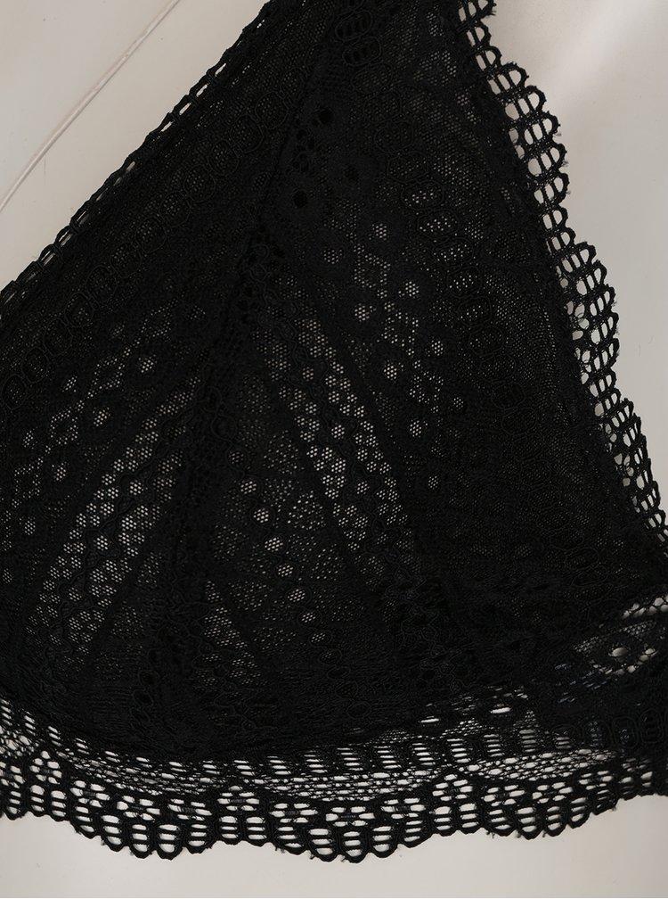 Černý průsvitný krajkový set podprsenky a kalhotek Y.A.S Ruby