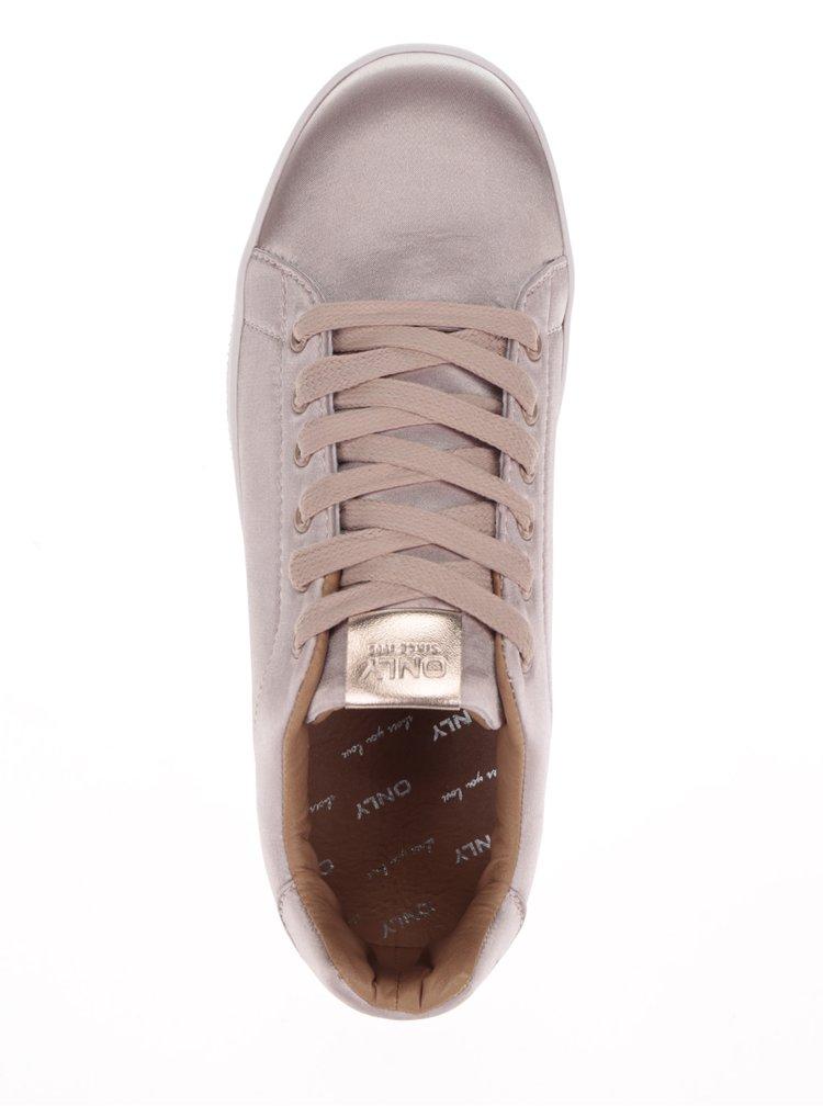 Pantofii sport roz satinat ONLY Shilo