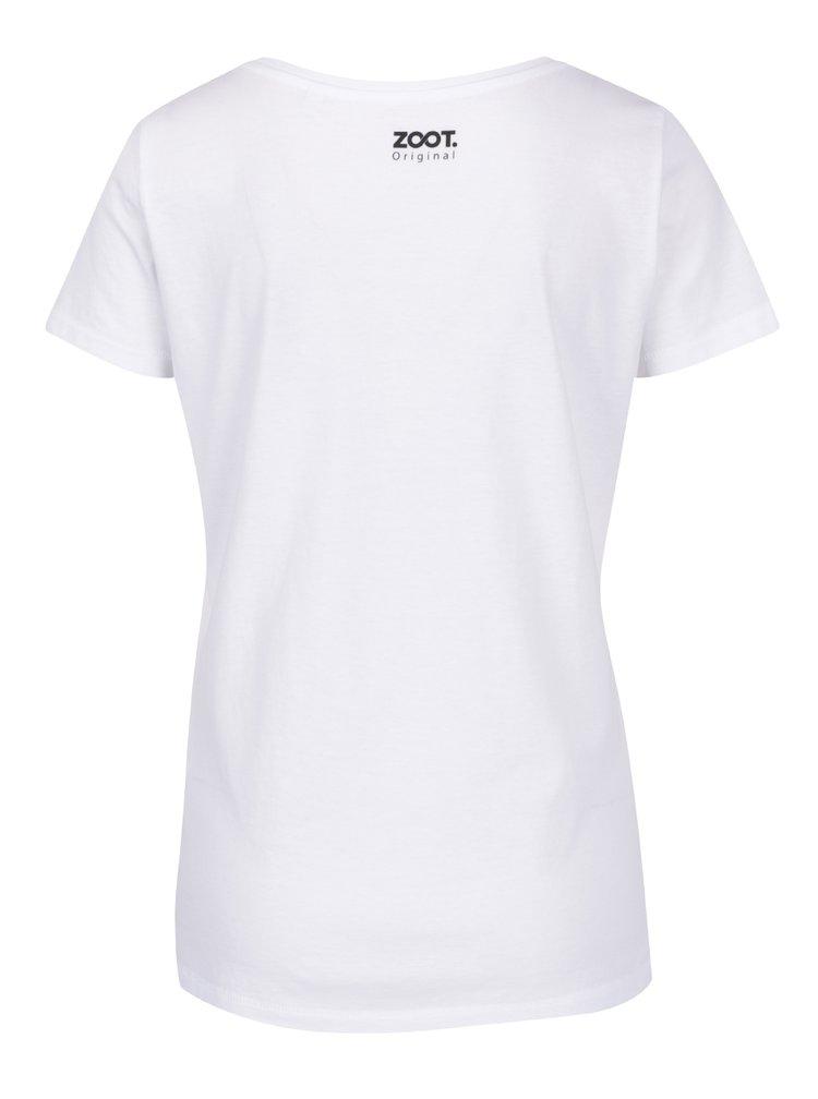 Bílé dámské tričko ZOOT Originál Potřebuju dovolenou
