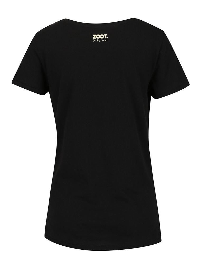 Černé dámské tričko ZOOT Originál Už tam budem
