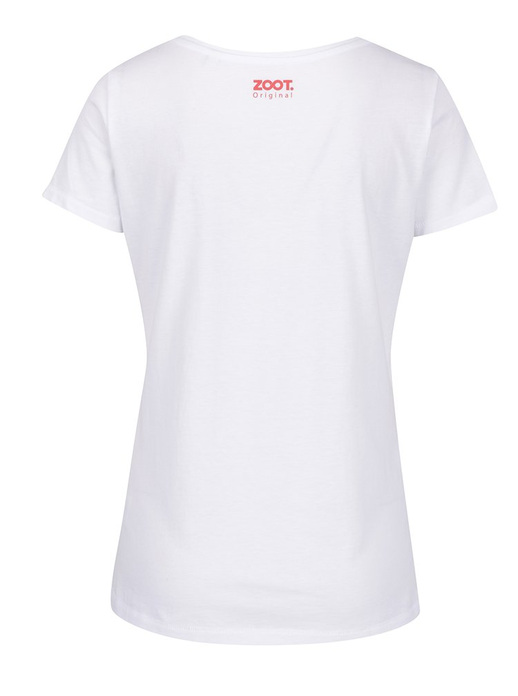 Tricou alb din bumbac organic ZOOT Original