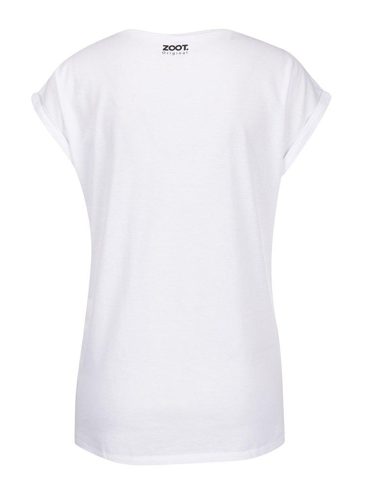 Tricou alb ZOOT Original cu mesaj