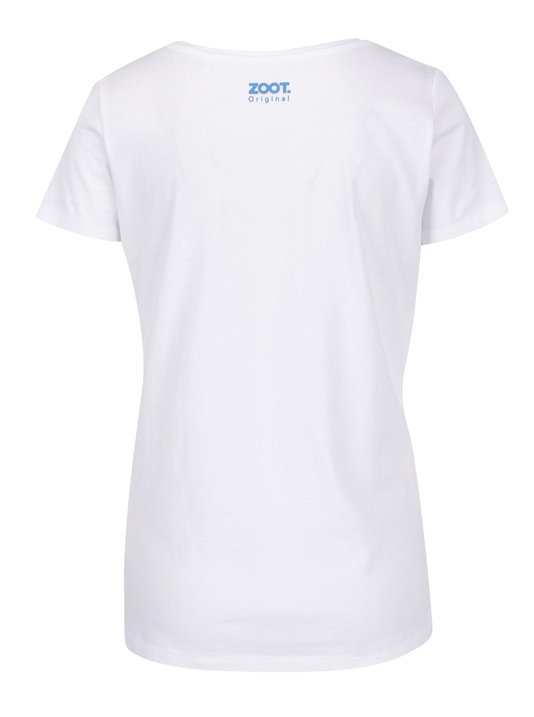 Tricou alb & albastru ZOOT Original bumbac organic