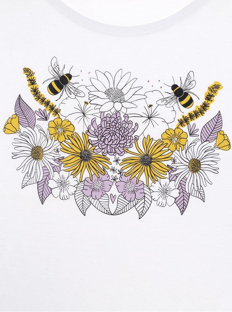 Bílé dámské tričko ZOOT Originál Flower bra