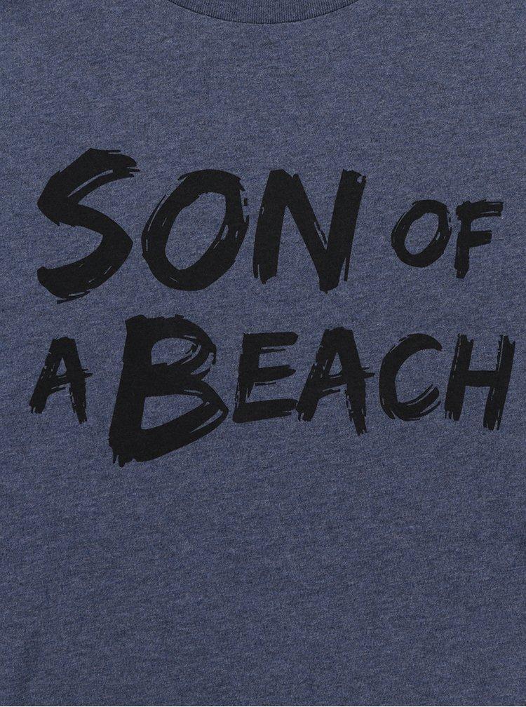 Modré pánské žíhané tričko ZOOT Originál Son of a beach