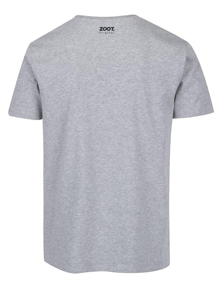Šedé pánské tričko ZOOT Originál Pivo
