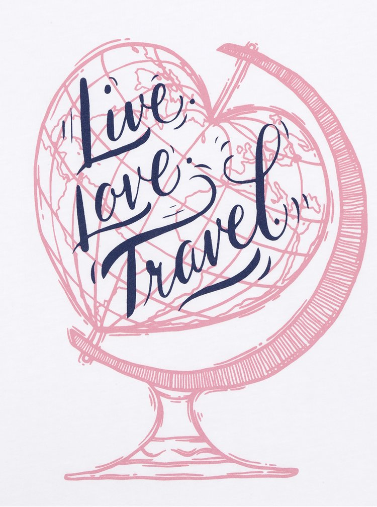 Tricou alb ZOOT Original Live Love Travel