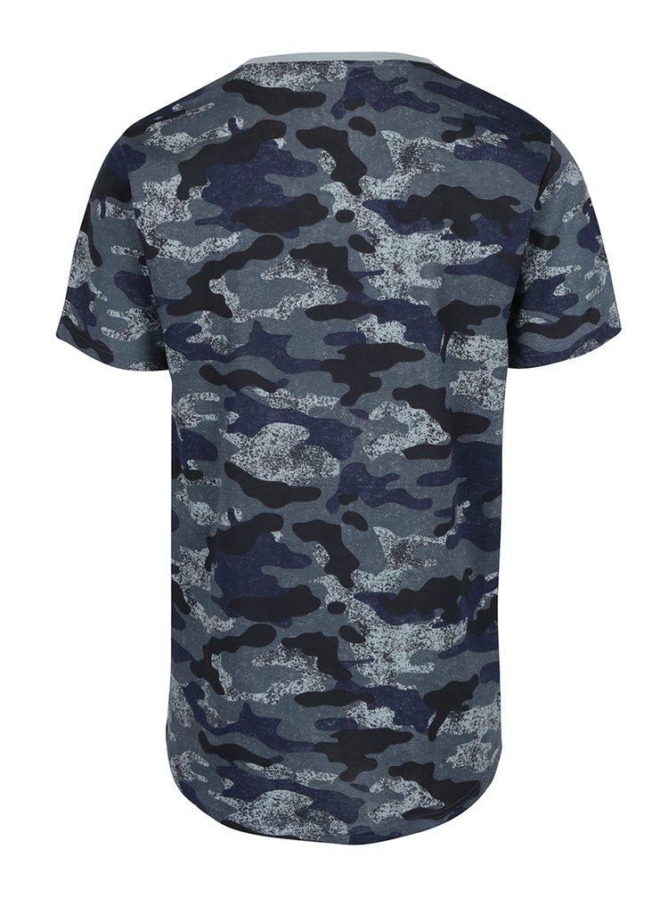 Tmavě modré tričko s maskáčovým vzorem ONLY & SONS Hans