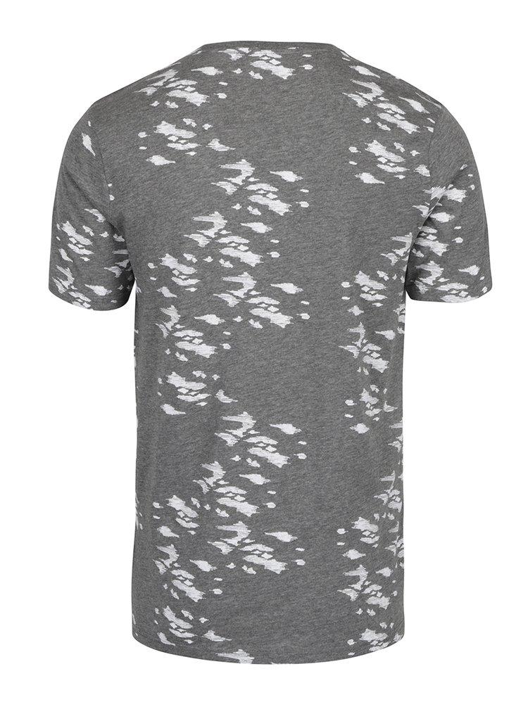 Šedé vzorované tričko ONLY & SONS Hasse