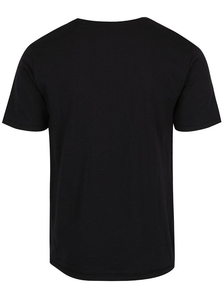 Tricou negru cu mesaj ONLY & SONS Andrew