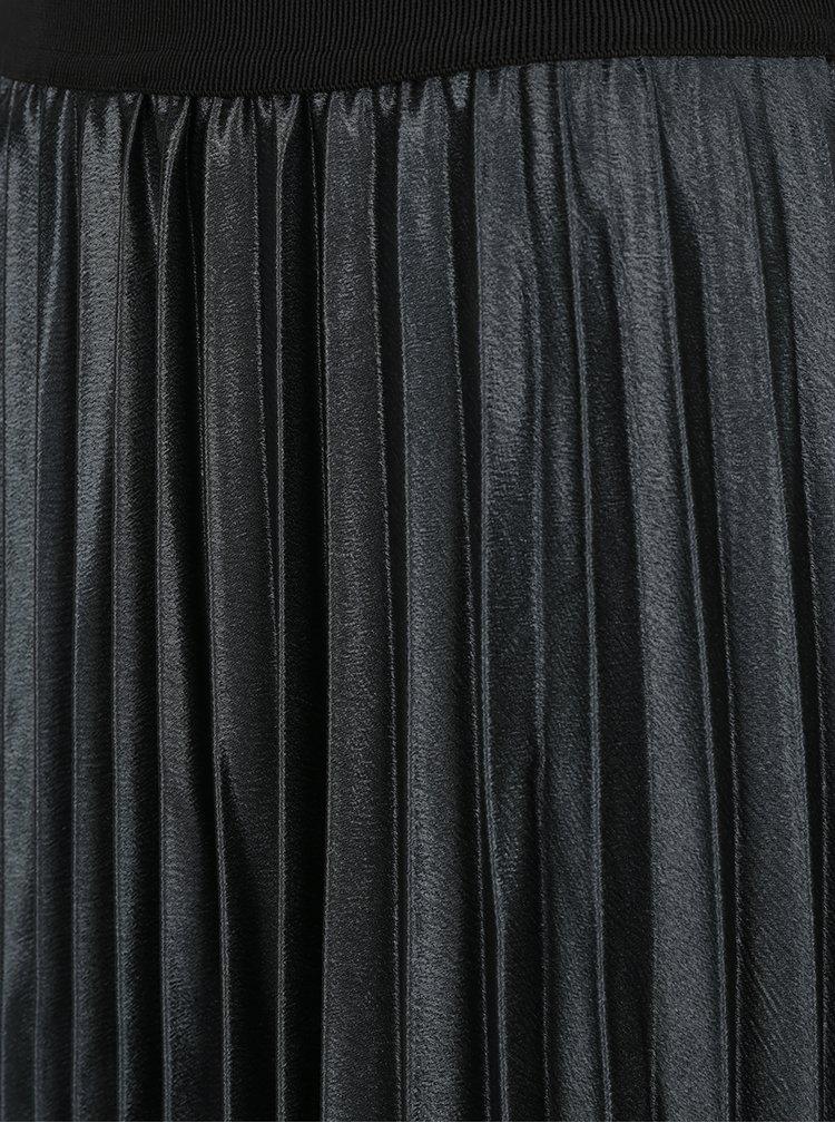 Tmavě zelená plisovaná midi sukně ONLY Anna