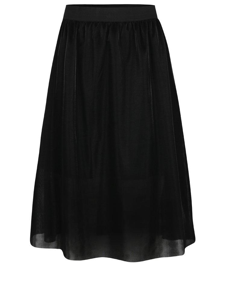 Černá lesklá sukně Jacqueline de Yong Mesh