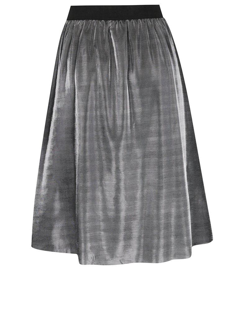 Lesklá sukně ve stříbrné barvě Jacqueline de Yong Mesh