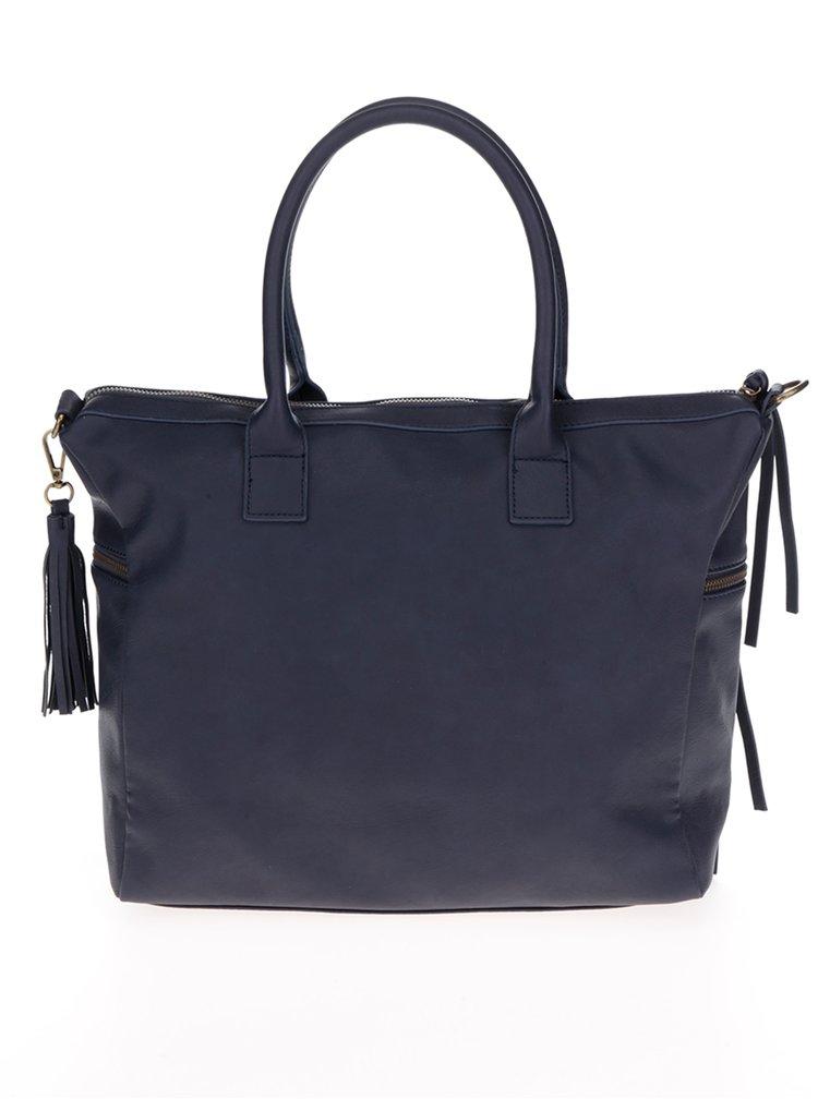 Modrá kabelka s pruhem ve zlaté barvě Pieces Jaci