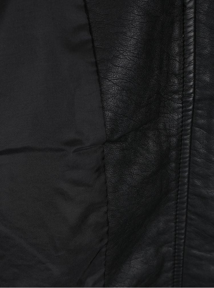 Černý koženkový bomber Jacqueline de Yong Elly