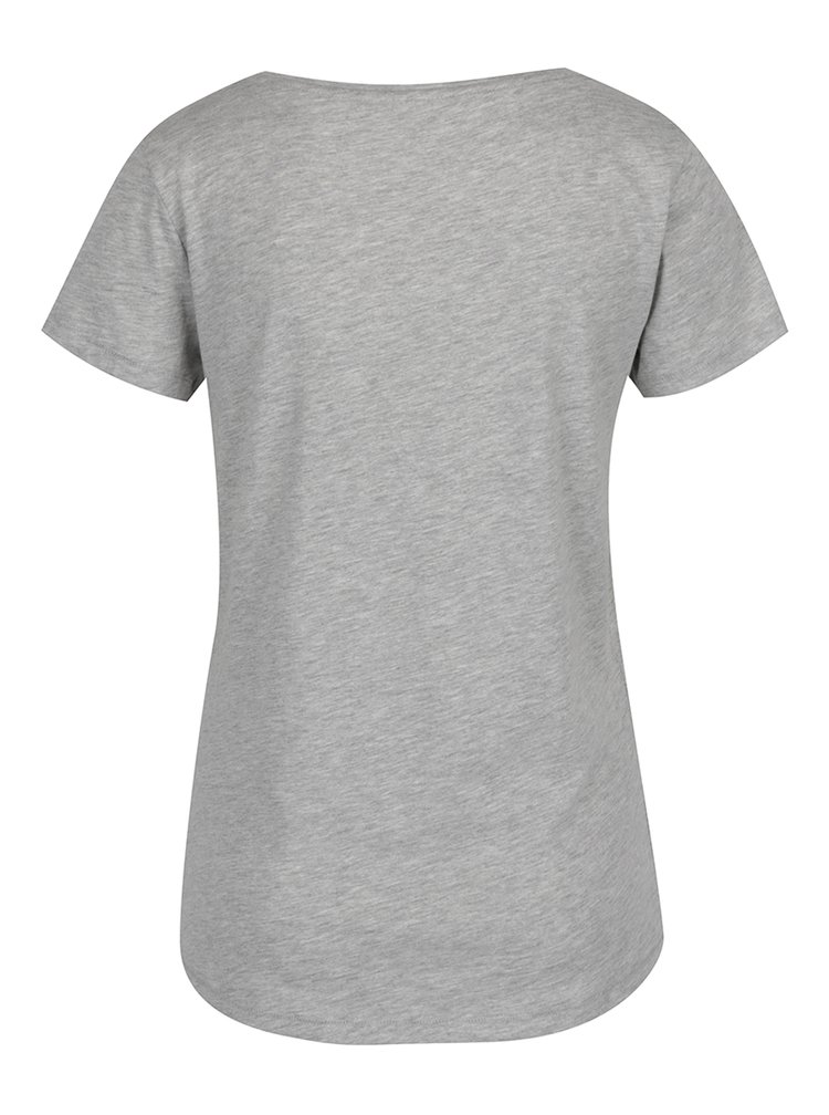 Šedé tričko s potiskem ONLY Basil