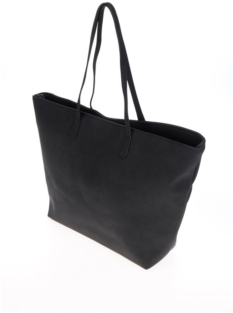 Geantă shopper neagră Pieces Jenica