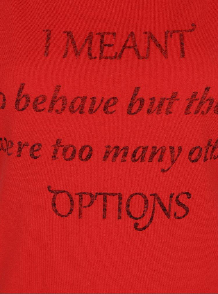 Tricou roșu cu mesaj funny ONLY Basil
