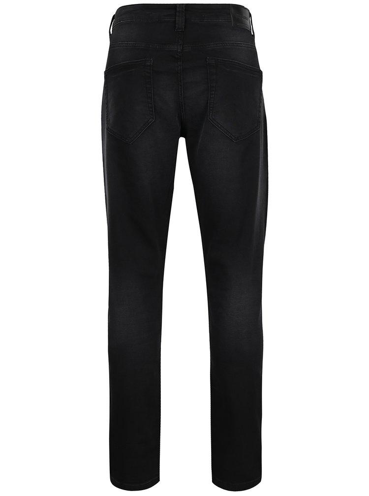 Černé džíny s vyšisovaným efektem ONLY & SONS Loom