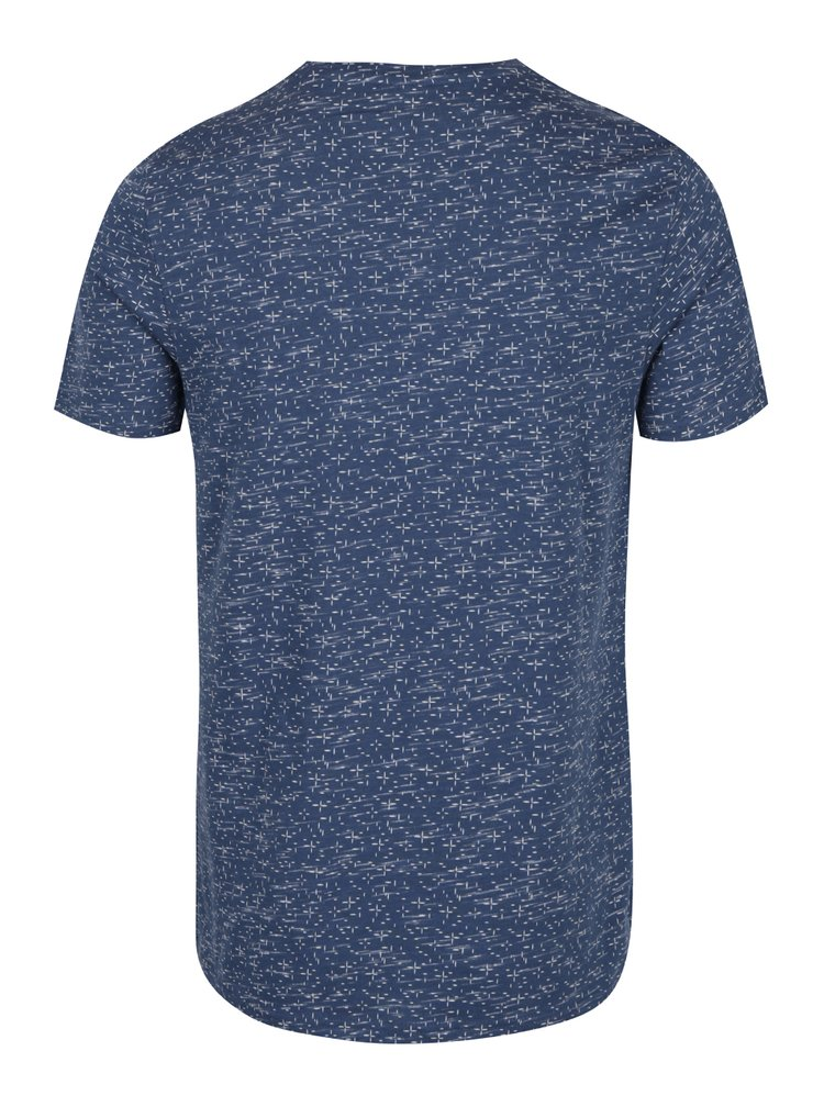 Tricou albastru cu print marunt Jack & Jones Lineup