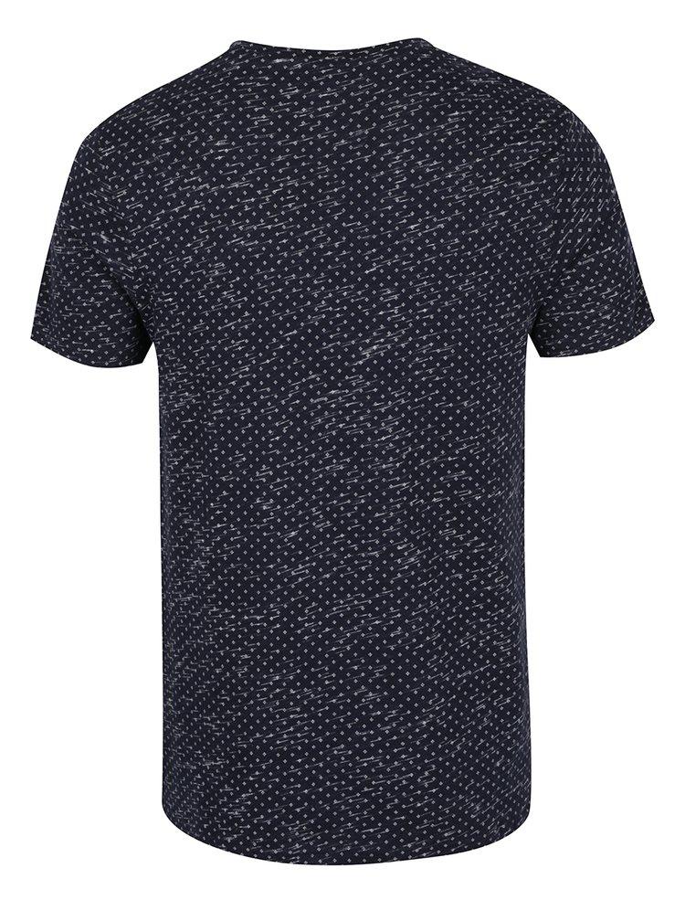 Tricou bleumarin cu print marunt Jack & Jones Lineup