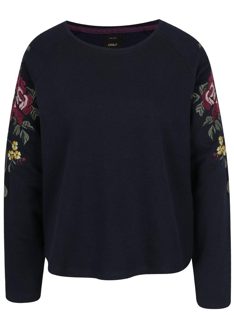 Bluză bleumarin cu broderie florală ONLY Darma