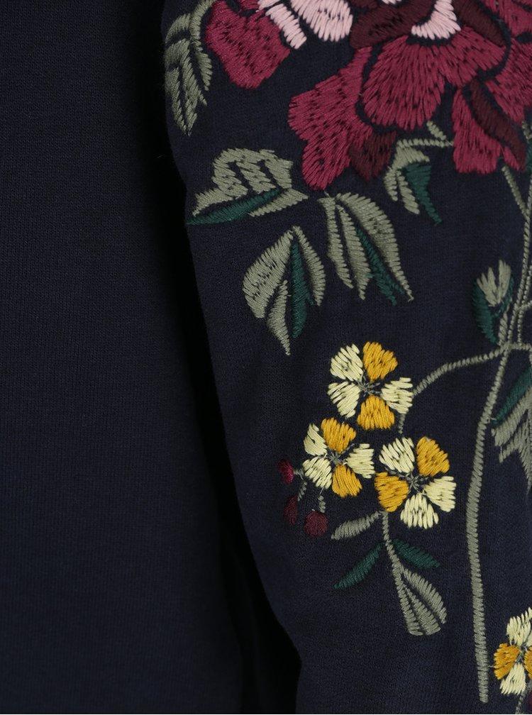 Bluza bleumarin cu broderie florala ONLY Darma