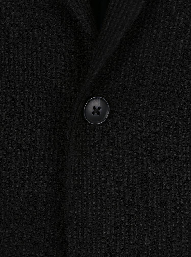 Sacou negru cu model discret Selected Homme Done-Brett