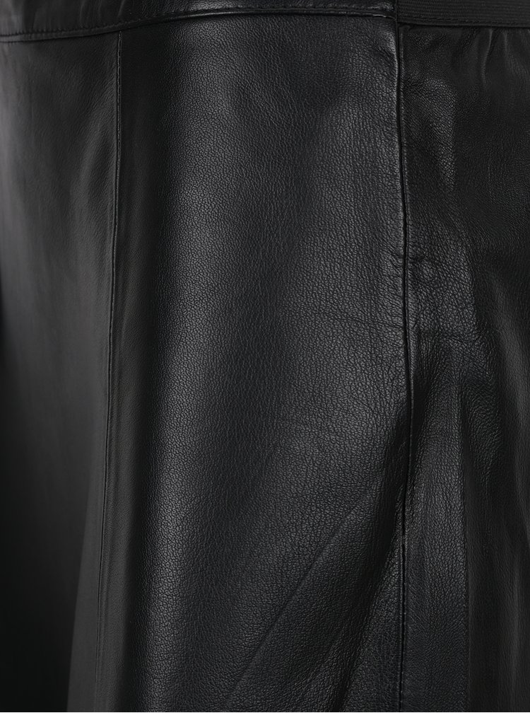 Černá kožená minisukně VILA Floris