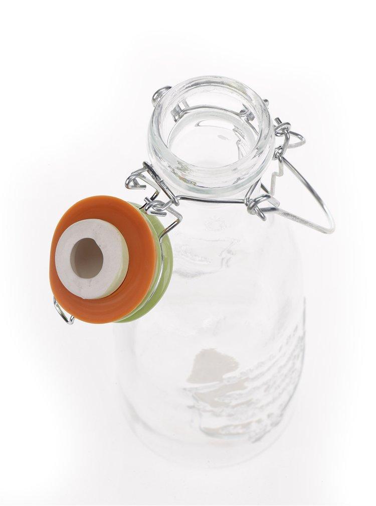 Skleněná láhev se zeleným víčkem Dakls 1l