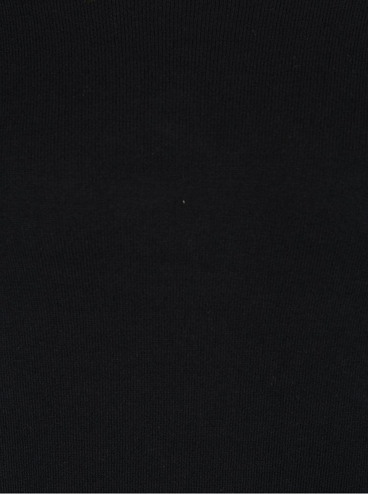 Pulover negru VILA Lost mâneci liliac