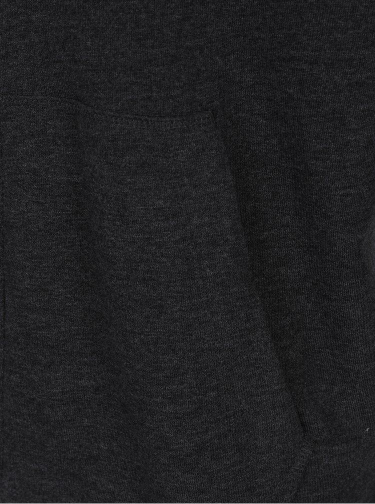 Tmavě šedá mikina na zip Jack & Jones Holmen
