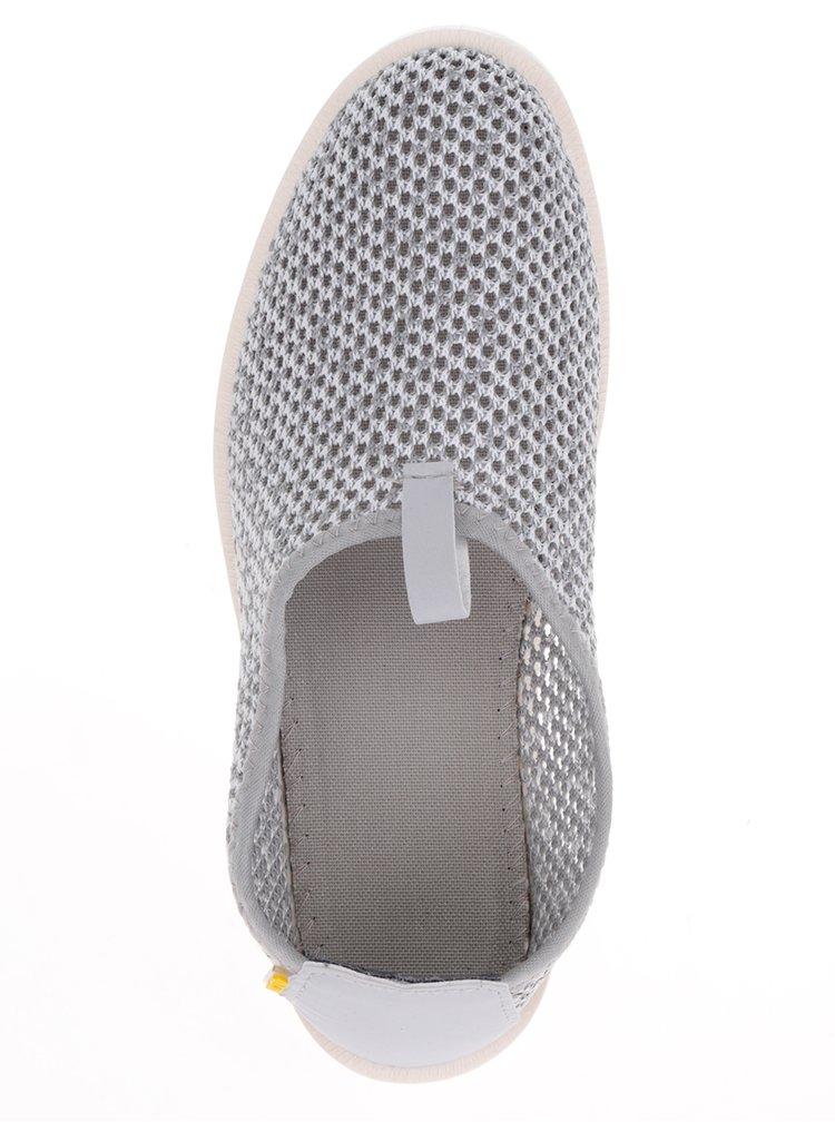 Šedé perforované loafers Oldcom Summer