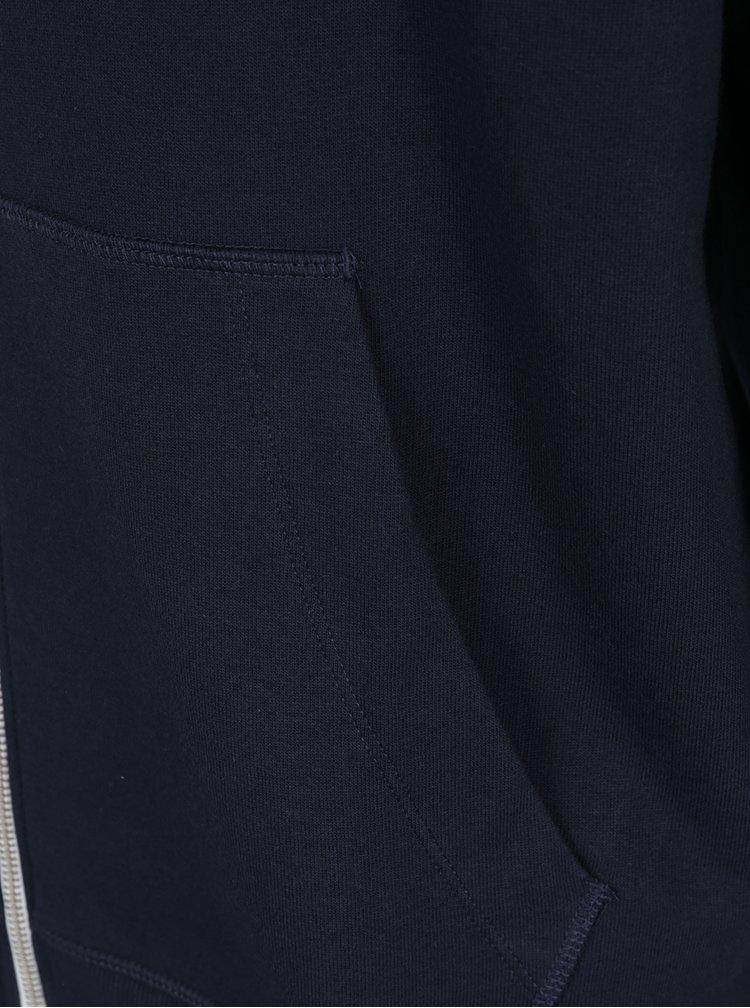 Tmavě modrá mikina na zip Jack & Jones Holmen