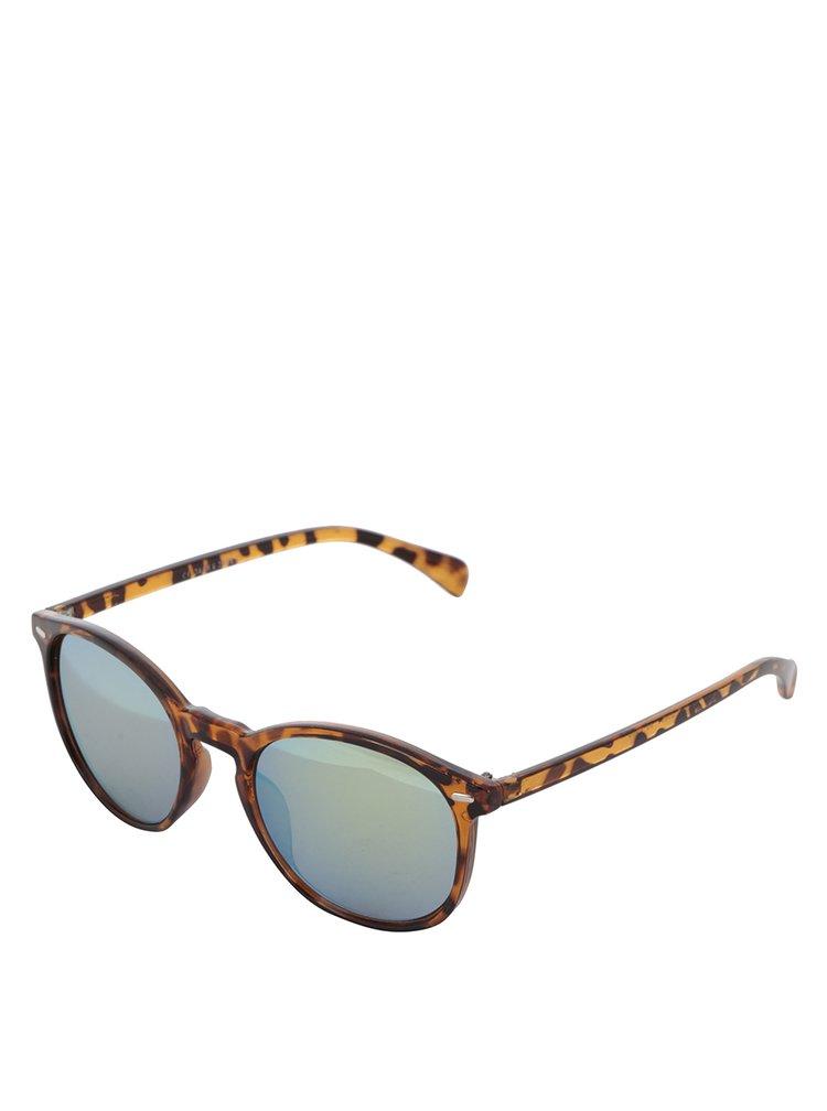 Hnědé vzorované sluneční brýle Jack & Jones Trend II.
