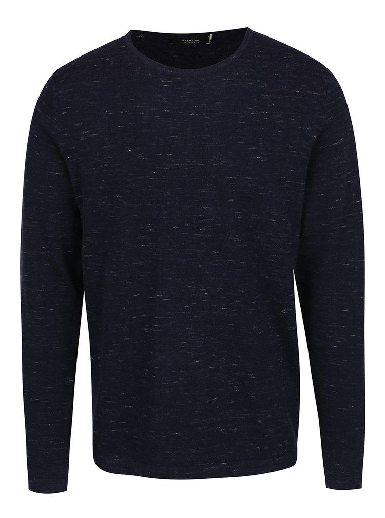 Tmavě modrý žíhaný svetr Jack & Jones Mikey