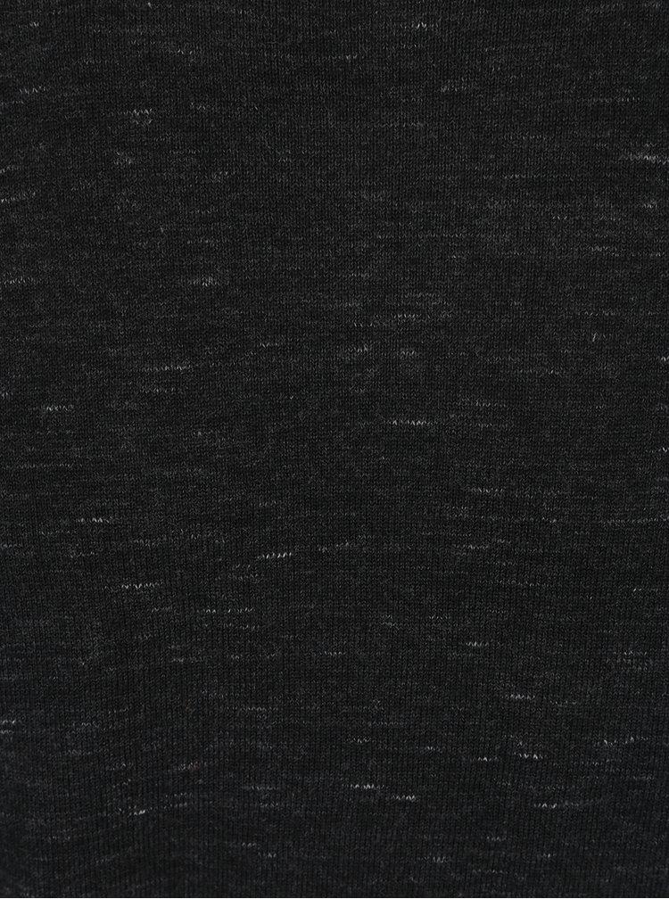 Pulover negru melanj Jack & Jones Mikey