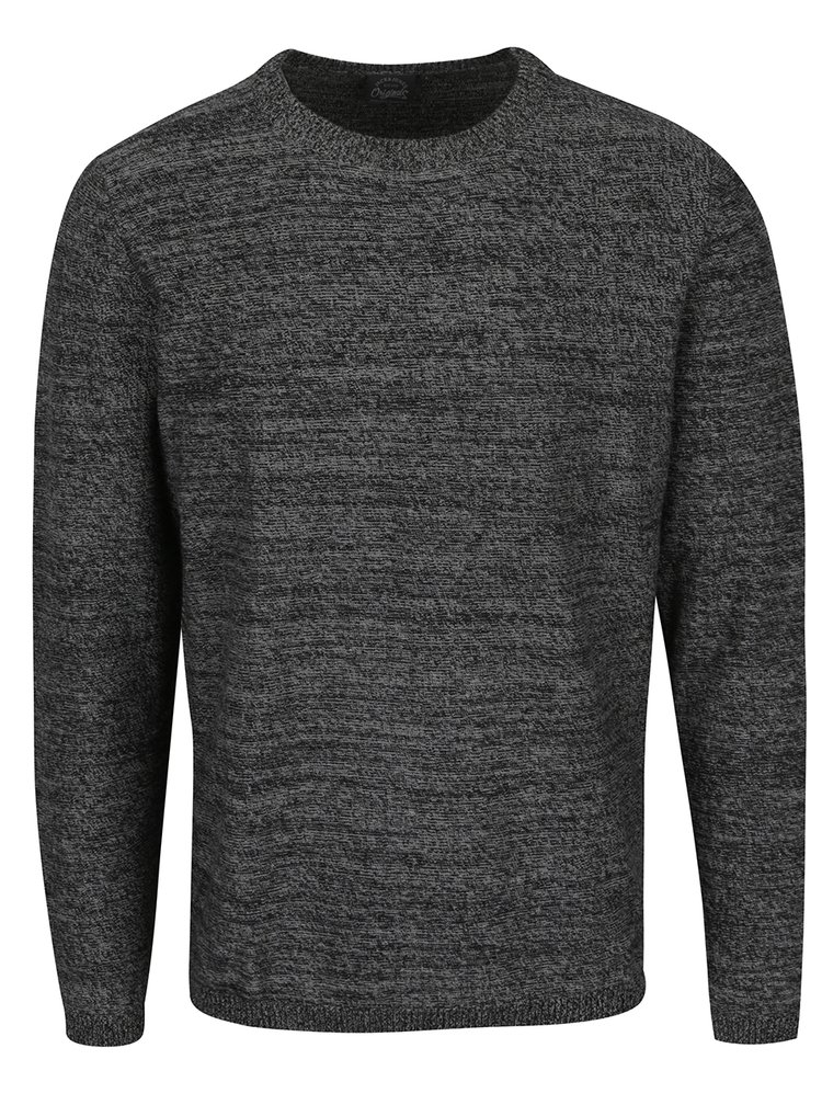 Pulover gri închis melanj Jack & Jones Blend