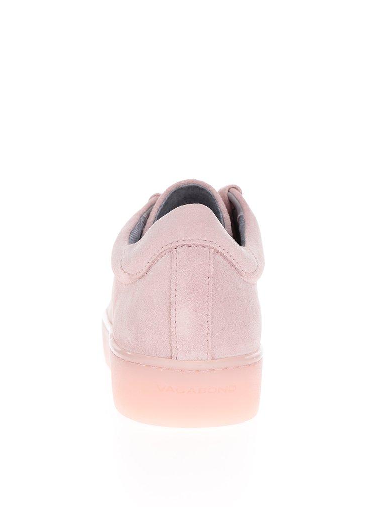 Pantofi sport roz prăfuit din piele întoarsă Vagabond Zoe