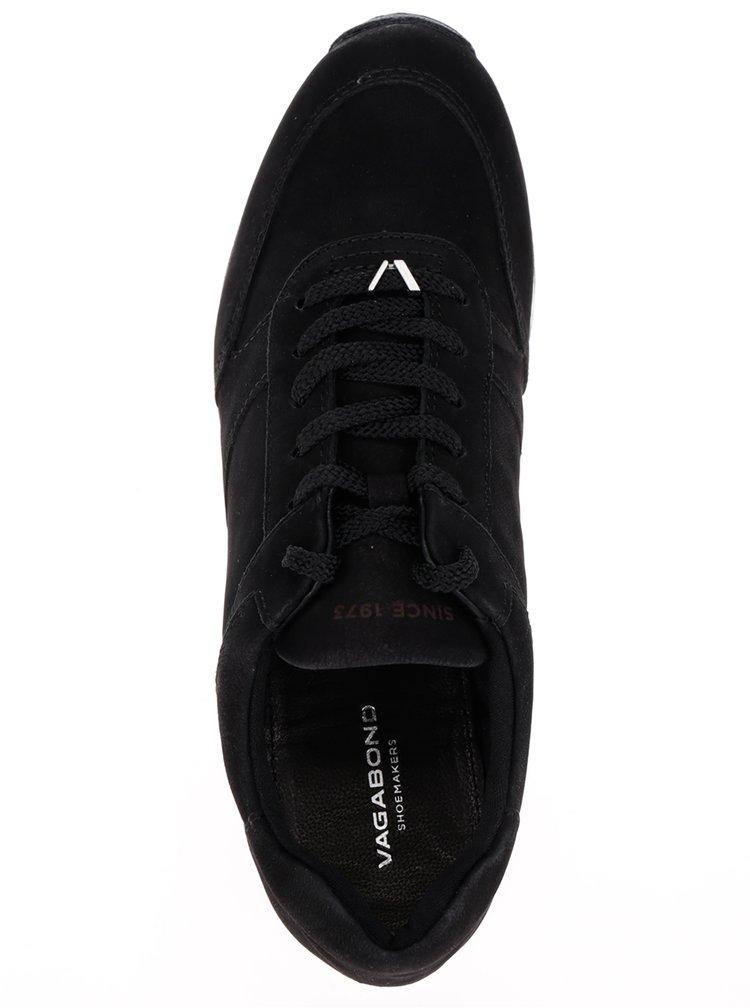 Pantofi negri din piele întoarsă Vagabond Kasai