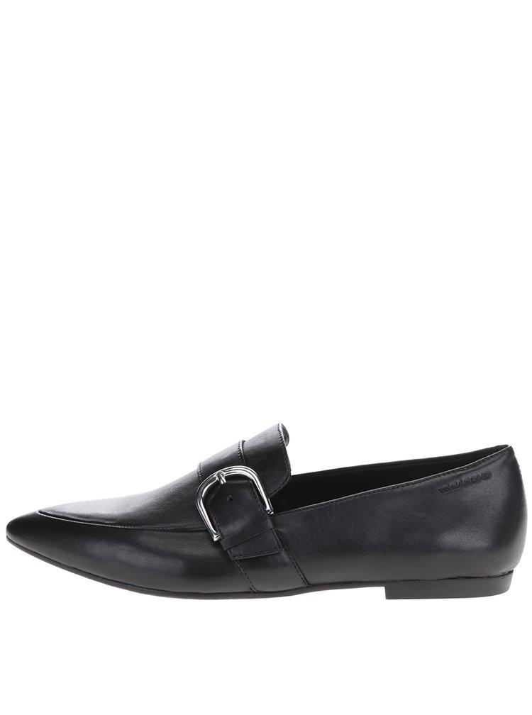 Pantofi negri din piele cu cataramă Vagabond Katlin