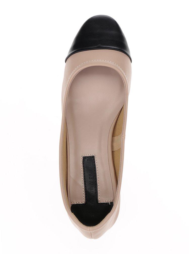 Pantofi crem cu toc stabil - Dorothy Perkins